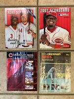 CINCINNATI REDS 1979 2004 2007 2008 OFFICIAL SCORECARDS LOT 4 MLB BASEBALL EUC