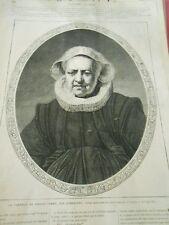 Gravure 1869 - Un portrait de vieille femme par rembrandt 646ea73a770