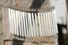 Pampilles bâtons en cristal dépoli lustre 1900