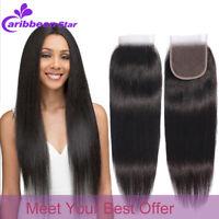 Brazilian Virgin Human Hair Straight Body Wave Wavy 4x4 HD Lace Front Closure