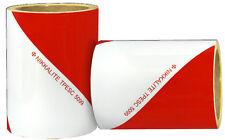 Bandes alternées de sécurité rouge et blanc