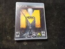 Metro: Last Light (Sony PlayStation 3, 2013) Complete CIB
