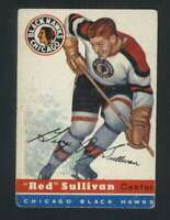 1954-55 Topps #42 Red Sullivan VG/VGEX Blackhawks 108230