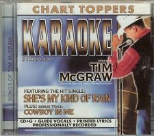 TIM McGRAW - CHART TOPPERS - KARAOKE - CD - NEW