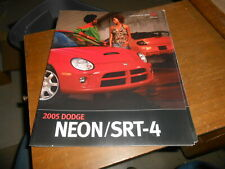 NOS 2005 Dodge Neon SRT-4 SE SXT Dealer Only Brochure