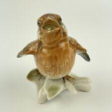 More details for vintage karl ens porcelain figure of a bird sparrow chick 7745 8cm