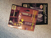 3 Doll House books,furniture patterns,more