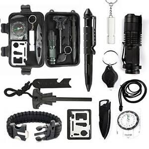 Außen Notfall Survival Kit, 12 in 1 Survival Gear Kits Set Outdoor Multi-Tool