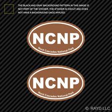"""Nord Cascades National Park oval car window bumper sticker decal 5/"""" x 3/"""""""