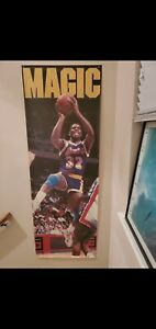 "Rare 1990 Costacos Magic Johnson Lakers Door Poster 27"" x 74"" Vintage Classic"