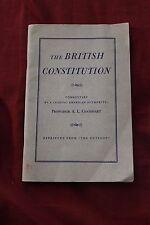 Vintage British Constitution Booklet Professor A.L. Goodhart 1946 VTG England