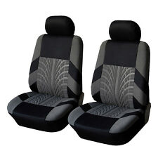 Universal Car Fabric Front Seat Covers & Head Rest Cover Set Fit Most Auto Car