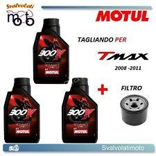 KIT TAGLIANDO YAMAHA T-MAX TMAX 2008 3 LITRI OLIO MOTUL 300V 10W40 + FILTRO OLIO
