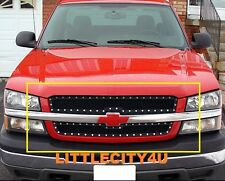 FOR 03-05 Chevy Silverado 1500/03 04 2500 HD Black Wire Mesh Rivet Grille Insert