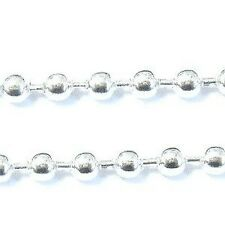 1 meters Silver Tone Ball Chain - 3mm Ball - A5435