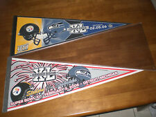 2 STEELERS vs SEAHAWKS SUPER BOWL XL DUELING PENNANTS - NEW