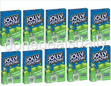 (10 Boxes) JOLLY RANCHER GREEN APPLE SINGLES TO GO Drink Mix Sugar Free* 60 Pct