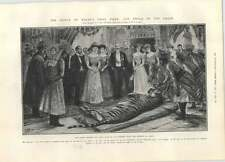 1905 Jaipur Prince Shoots First Tiger Swinging Clock Christmas Present