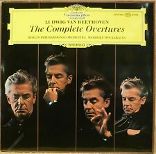 DGG Germany Double LP 2707 046 BEETHOVEN The Complete Overtures VON KARAJAN