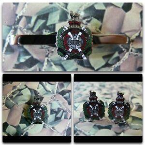 Kings Own Scottish Borderers Lapel / Cuff Links / Tie Bar Gift Set KOSB