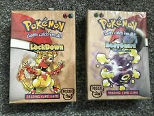 Rare Pokemon NEW Factory Sealed Fossil Unlimited BODYGUARD + LOCKDOWN Theme Deck