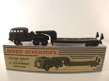 Dinky Toys F n° 890  BERLIET camion militaire porte char army truck en boite