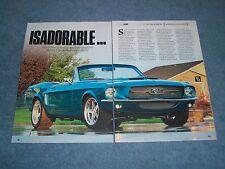 "1967 Ford Mustang Convertible Custom RestoMod Article ""Isadorable..."""