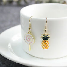 Women Girls Enamel Lollipop Pineapple Earrings Ear Stud Lovely Jewelry