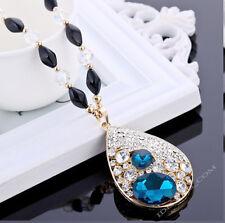 Luxus Damen Perlen AAA Zirkonia Halskette Handarbeit Kette Collie Glücksbringer