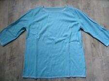 LE TRICOT PERUGIA oversized Pullover 100 % Kaschmir türkis Gr. M TOP KoS817