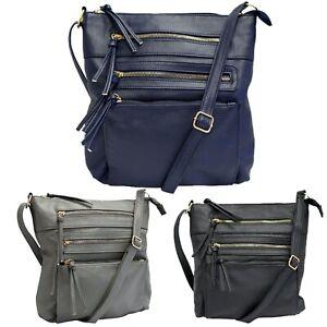 Ladies Handbag Shoulder Body Cross Women Faux Leather Crossbody Messenger Bag