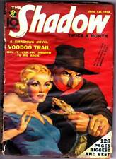 Pulp THE SHADOW June 1st, 1938 - VOODOO TRAIL - Good/very good condition