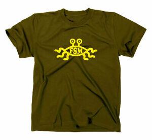 Das Fliegende Spaghettimonster FSM T-Shirt Flying Monster Nerd Darwin Pastafari