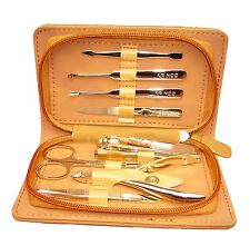 **Great Gift**      Stainless Steel Manicure Set ( 8 in 1 Gold )