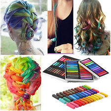24 Colors Hair Chalk Temporary Hair Dye Color Non-Toxic Pastels Colors Salon Kit