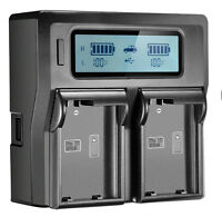 Lcd Dual Channel Charger For Nikon ENEL3E  FUJI NP150 OLY BLM1/BLM5 PTX D-L150