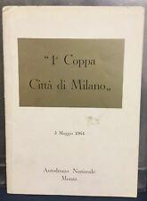 Rare Reglement Course COUPE DE MILAN 1964 !!!