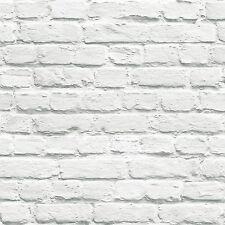 Muriva Peint en Blanc Papier Peint Brique (102539) Nouveau Décor de la Salle