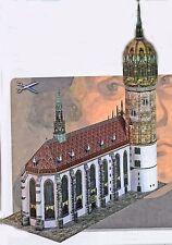 Schlosskirche Wittenberg 1:200 Lutherkirche Bastelbogen Karton J.F. Schreiber
