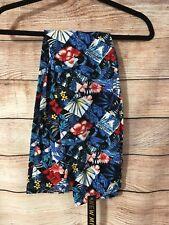 One Size Super Soft Leggings Red Flower Tropical Blue Skylar Misses M202N