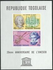 Togo - 20 Jahre UNESCO Musiker Block 28 postfrisch 1967 Mi. 574-575