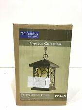 Progress Lighting Cypress 1Light Outdoor Forged Bronze Hanging Lantern New Other