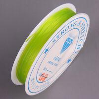 Bobine de fil Nylon Elastique 0,8mm Vert Pomme environ 8m creation bijoux Loisir