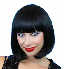 1920's Classic Bob Flapper Wig BLACK quality women's  costume WIG