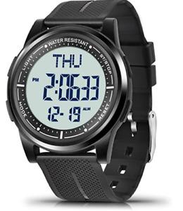 Montre Digitale pour Femme Homme Etanche Bracelet Léger Chronomètre Alarme