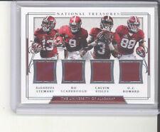 Alabama Crimson Tide quad jersey card 22/99 2018 National Treasures NM Ridley +