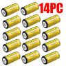 14 PCS 16340 CR123A 3.7 Volt Lithium Rechargeable Batteries For Flashlight USA