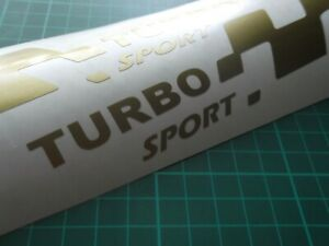 TURBO sport  LARGE car vinyl sticker decal. x2 7 YEAR VINYL
