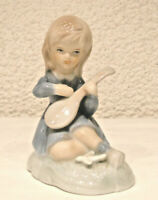 Porzellanfigur Lautenspielerin  Mädchen  Musikerin