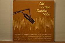Crest Recording Service 1961 Presentation and Demo Stereo LP CRT-1961 w/ Inserts